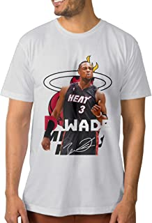 ptcym Dwyane Tyrone Wade Miami Heat Personalizado Camiseta de Hombre Azul Eléctrico