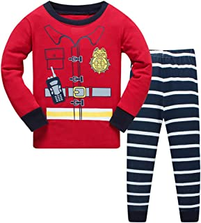 Jomago Little Boys Pajamas Set Toddler 100% Cotton Cosplay Outfits Sleepwear 2 Pcs Pjs