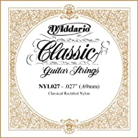 D'Addario ダダリオ NYL027 Rectified Nylon クラシックギター シングルストリング .027 アコースティックギター アコギ ギター (並行輸入)