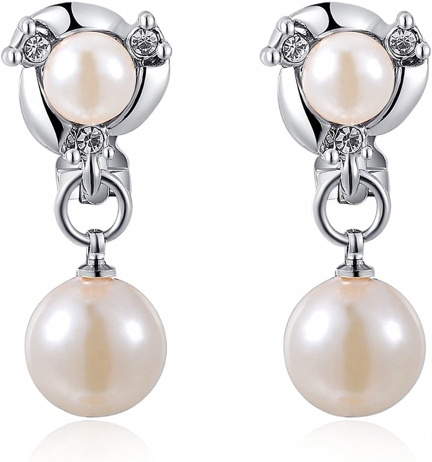 [FOUR   G] swaying swaying silver can also be used without opening the Pearl Bijou earrings trend gorgeous hole