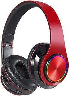 Cascos Bluetooth Inalambricos Plegable con Micrófono Sonido de Alta Fidelidad para iPad,iPhone,Android,PC,TV,4 Color de El...