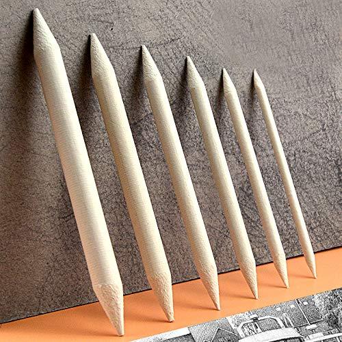 NIUPAN 6 stuks/set van gemengde schilderij stomp stok gyro schets kunst wit schilderij houtskool schets tool rijstpapier pen benodigdheden |standaard potlood