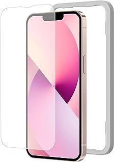 NIMASO アンチグレア ガラスフィルム iPhone13 mini 用 強化 ガラス 保護 フィルム iphone 13 mini 対応 iphone13ミニ 用 ガイド枠付き NSP21H297