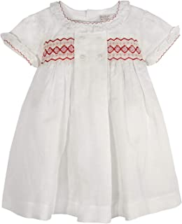 PHLONA Hand Smocked Angel Dress for Christmas Party Casual Dress Toddler Girls 6 Months - 6 Years