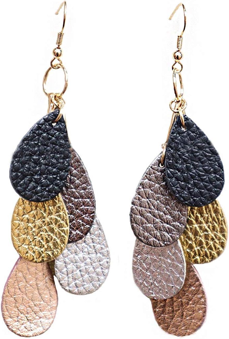 Large Oval Faux Leather Earrings FREE SHIPPING Teardrop {2.5} Aztec Faux Leather Earrings