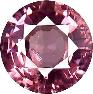 0.48 ct AAA+ Grade Round Shape (5 x 5 mm) Unheated Pink Malaya Garnet Natural Loose Gemstone