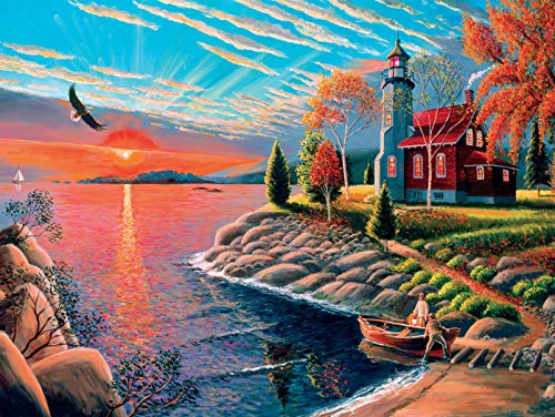 Patrick J. Costello - Coming Home Collection - Lighthouse Jigsaw Puzzle - 750 Pieces