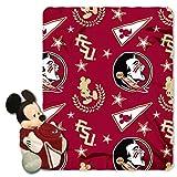 Florida State Seminoles Co-Brand Disney Mickey Mouse Hugger & Fleece Throw Set, 40' x 50'