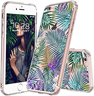 MOSNOVO iPhone 6 Case/Clear iPhone 6S Case, Tropical Palm Tree Leaves Clear Design Printed Transparent Plastic Hard Back Phone Case with TPU Bumper Protective Case Cover for Apple iPhone 6/iPhone 6S