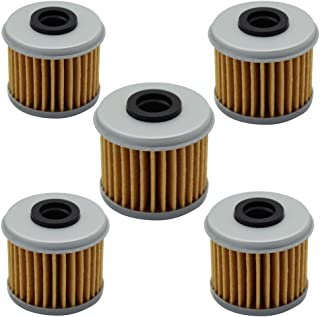 Cyleto Motorcycle Oil Filter for Honda CRF250R CRF250 R 2004 2005 2006 2007 2008 2009 2010 2011 2012 2013 2014 2015 2016 (Pack of 5)