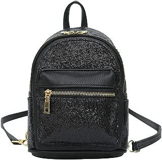 Girls Cute Sequin Mini Backpack Leather Purse Women Backpack Leather Cross Body Bag