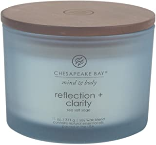 Chesapeake Bay Candle Mind & Body Coffee Table Scented Candle, Reflection + Clarity (Sea Salt Sage)