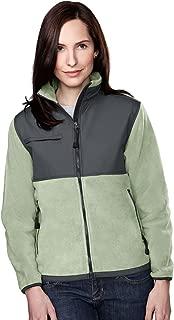 Tri-Mountain 7420 Womens panda fleece jacket with nylon paneling
