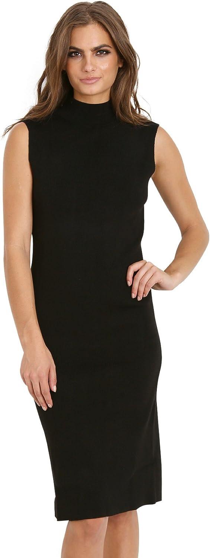 Line & Dot Cher Knit Skimmer Dress Black