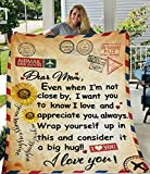 Gifts for Mom Flannel Throw Blanket to My Mom Mother Gifts Fleece Blanket mom Gifts in Home Bed Sofa Chairs
