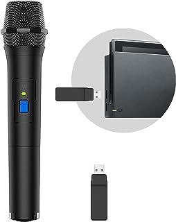 【2021年最新版】Switch用 ワイヤレスマイク USBマイク 無線 カラオケマイク 高音質 カラオケ For Nintendo Switch ニンテンドー スイッチ/PS5/PS4/PS3/XBOX ONE/Wii uに対応