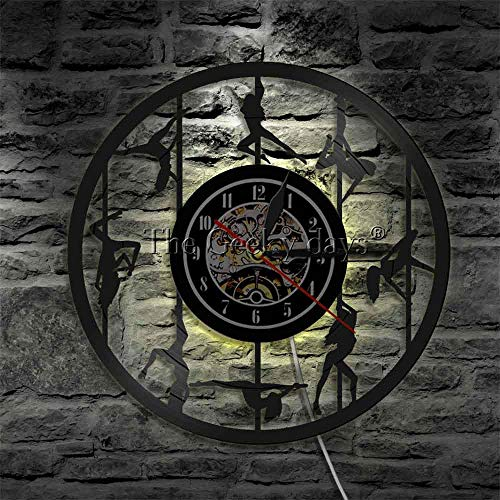 Reloj de pared de bailarina de barra silueta reloj de striptease femenino reloj exótico decoración de mujer reloj recortado