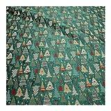 Stoff Polyester Baumwolle Gobelin grün Tannenbaum