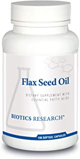 Biotics Research Flax Seed Oil Each Capsule Contains 1,000 of Pure Flax Seed Oil. Cold Pressed from Certified organically ...
