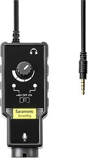 Saramonic Micrófono XLR y adaptador de guitarra de 6.3 mm con amplificador de preamplificador Phantom Power para iPhoneX 8 8 plus 7 7 plus 6 iPad iPod, teléfono inteligente Android y guitarra