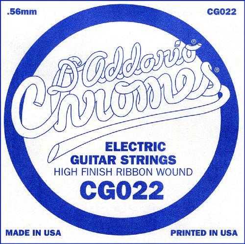 D'Addario CG022 - Cuerda individual de entorchado plano para guitarra eléctrica.022
