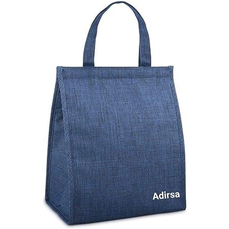 ADIRSA LB3006 Polyurethane Insulated Lunch Bag / Tiffin Bag for School , Picnic , Work Carry Bag (Navy Blue)