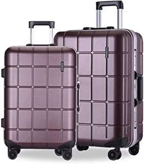 LFSP Luggage Wheels Hardside Suitcase Fashion Check Trolley Suitcase Design Package Travel Trunk 20 Inches 24 Inches Hard Trunk Trim Two Sets Of 360 ° Multidirectional Wheel Trim Mute Travel Essential