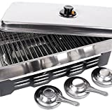 FLADEN Fishing Stainless Steel Portable Outdoor Garden Camping Fish and Meat HOME SMOKER Preserver Oven Available with 3 Burners [36-1229]