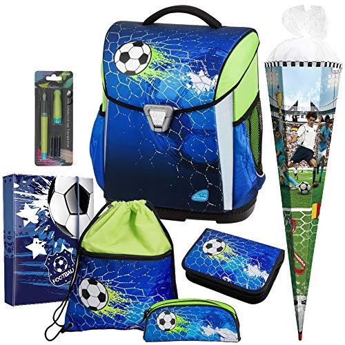 Soccer Champ - Fußball - Schulranzen-Set TOOLBAG Basic 78316-070 Schneiders 7teilig mit Schultüte - Füller GRATIS