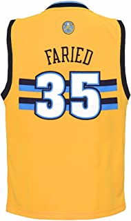 adidas Kenneth Faried Denver Nuggets NBA Gold Official Alternate Replica Basketball Jersey for Toddler