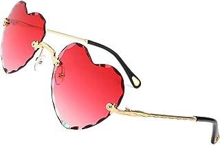 OGOBVCK des lunettes en forme de cœur mode femme fille coloré lunettes gradient lunettes