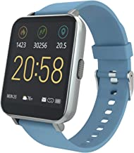 YIRSUR Smart Watch 2020 Ver. for Android & iOS, HD Touch Screen Fitness Tracker A-GPS with Sync Notification IP68 Waterproof Heart Rate Recorder Step Counter Sleep Monitor for Women Men (Blue)