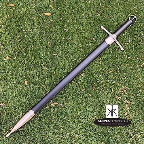 Monogram Sword, Custom Sword, Personalized Sword, Engraved Sword, Medieval Knight Arming Sword with Scabbard (Irish Celtic)