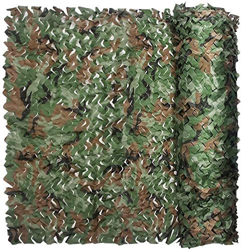 LISI Camouflage Netting for Kid Army Sunscreen Shade Patio Net Hunting Shooting Hide Military Garden Decoration Sunshade 2m 4m 5m 6m 10m (Color : Woodland, Size : 1.5x9M=4.9x29.5ft)
