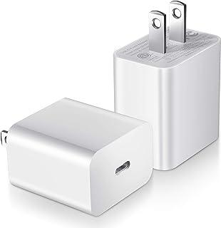 THREEKEY PD充電器 20W 2個セット USB-C 電源アダプタ Magsafe充電器用 急速充電 iPhone 12/iPad/Samsung S21などに適用