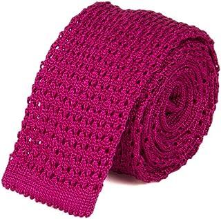 40 Colori - Cravatta a maglia Jacquard in seta pregiata