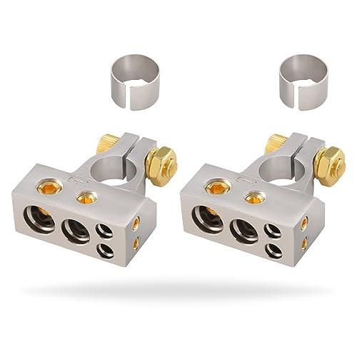 installgear 2/4/8/10 gauge awg positive & negative battery terminal clamp