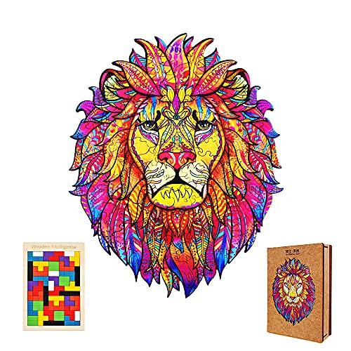 Ubrand Baustein Montage Diagramm Holz Puzzle Design Cartoon Löwe Erwachsene Kinder Home Decor Puzzle Stücke Lernen pädagogische Spielzeug Geschenk A3