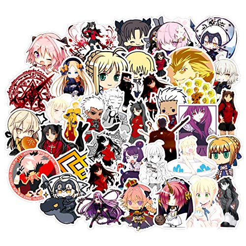 Anime Fate/Stay Night Stickers for Water Bottles Computer Phone Luggage Scrapbook Skateboard Bike 50pcs