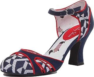 Ruby Shoo Athena bleu marine à Talon Haut Bottes Chaussures