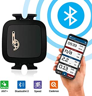 TAOPE Ant+ Bluetooth Bike Speed Cadence Sensor Waterproof for iPhone Android and Bike Computers