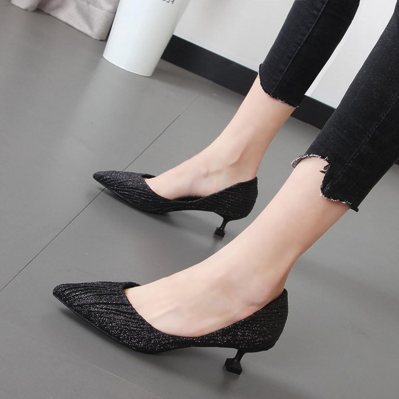 Xue Qiqi Frauen Schuhe mode Tipp dünne und leichte mit Schuhen in der Champagner Farbe einzelne Schuhe Tide