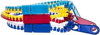 Zipper Bracelet Hip Zip Real Zipper Bracelets Basic Color 3 Pieces Set