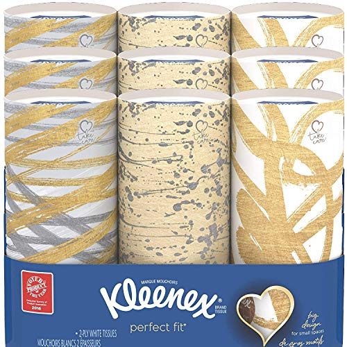 Kleenex Perfect Fit Facial Tissue 50 Count Pack of 9