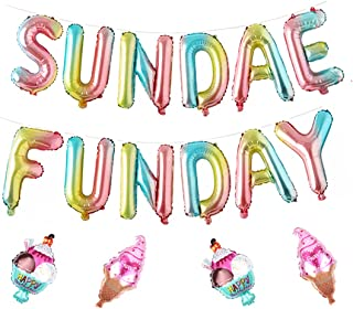 Sundae Funday Balloons Ice Cream Party Supplies Summer Sweet Theme Birthday Party Decoration Baby Shower Decor