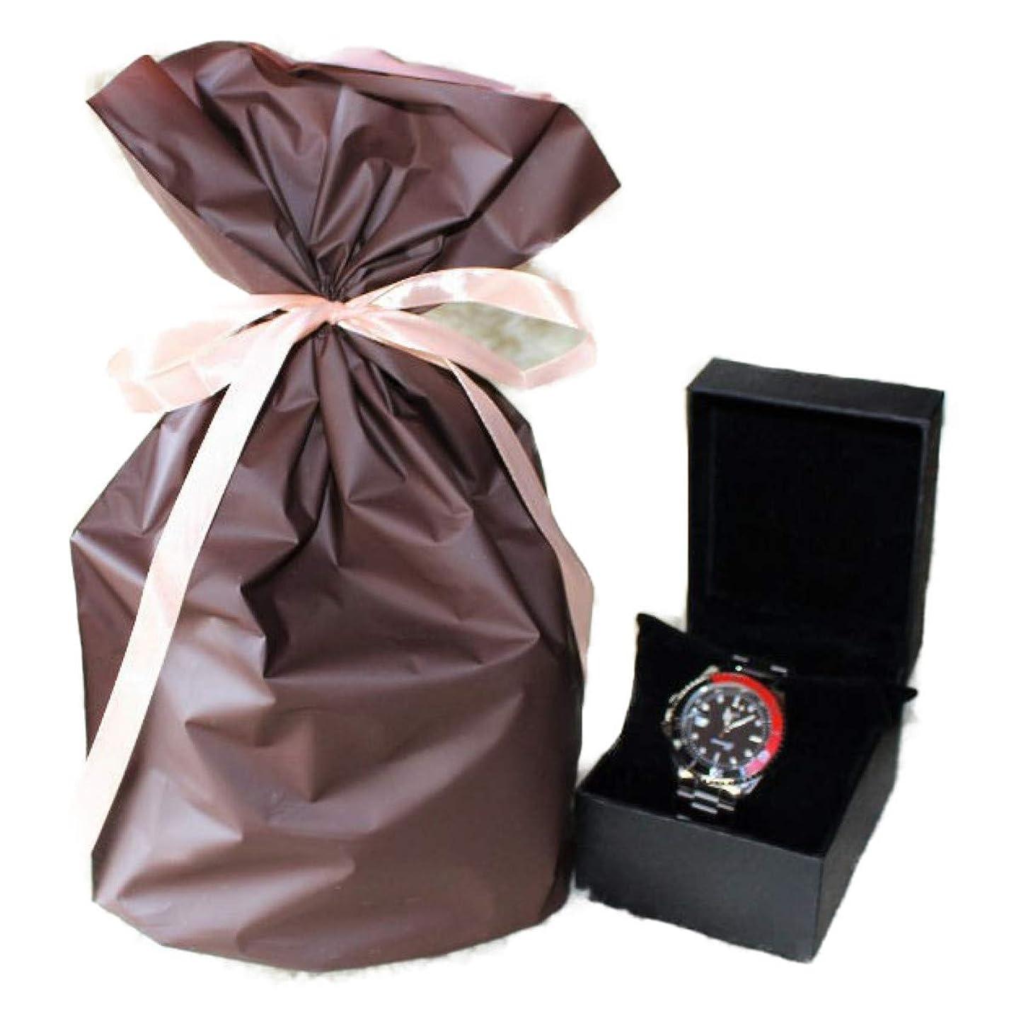 グリル傭兵壁紙【EZZE】腕時計用 ギフト ラッピングセット【大】 袋 ボックス 保存箱 プレゼント 祝 クリスマス 誕生日 贈り物