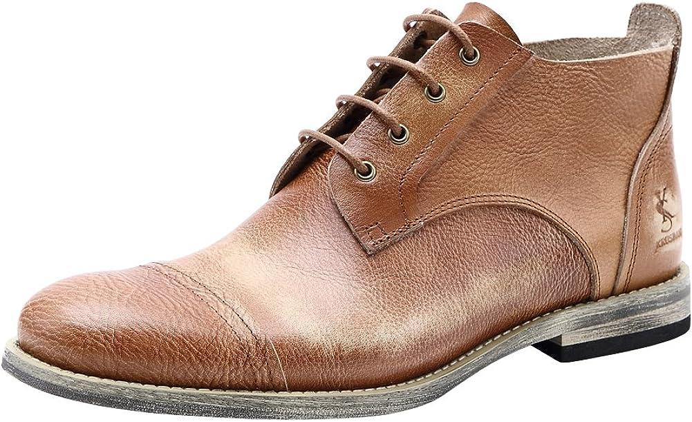 Tortor 1Bacha ! Super beauty product restock quality top! Men's Retro Leather Derby Oxford Captoe Boots Boston Mall