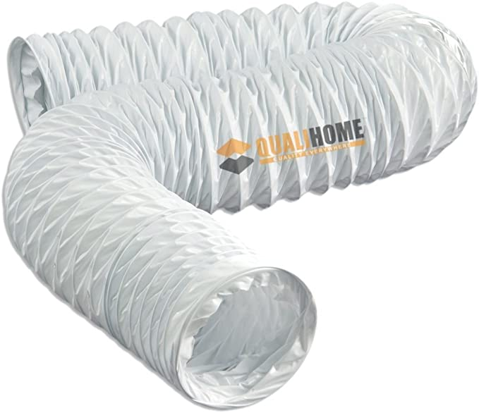 Exhaust Fan Air Ducting Hose Flexible PVC Ventilation 25 Feet Yellow Heavy Duty