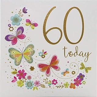 Milestone Age Birthday Card Age 60-138 mm sq inches - Zizi Cards