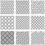 9 Pieces Line Quilting Stencil Kits Quilting Creations Stipple Stencils DIY Reusable Line Templates for Hand Quilting Sewing on Fabric Clothes Crafts Supplies